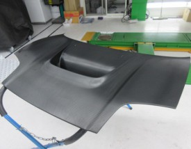 写真1:NSX ボンネット ラッピング 持ち込み!!