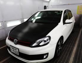 写真1:VWゴルフ6 GTI カーラッピング